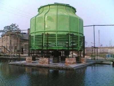 圆形逆流式玻璃钢冷却塔的特点生产厂家价格