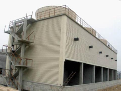 株洲GFNS3系列方形逆流式玻璃钢冷却塔组成及其特点生产厂家价格