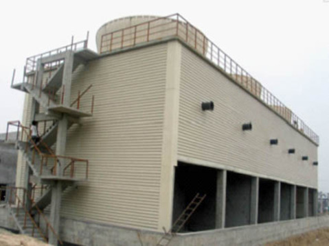 GFNS3系列方形逆流式玻璃钢冷却塔组成及其特点生产厂家价格