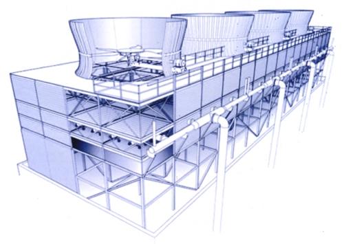 节能型方形逆流式玻璃钢冷却塔生产厂家价格