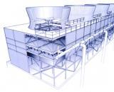襄樊节能型方形逆流式玻璃钢冷却塔