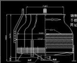 市场上常见的圆形逆流式冷却设备参数表